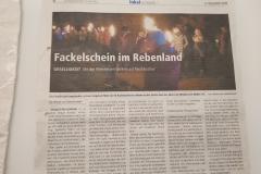 Dezember 2018 Fackelschein im Rebenland